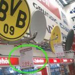 BVB Dortmund Logo auf Satelliten-Antenne
